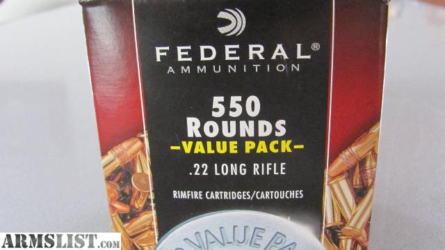 For Sale: .22LR 550 Rounds Federal Value Pack HP