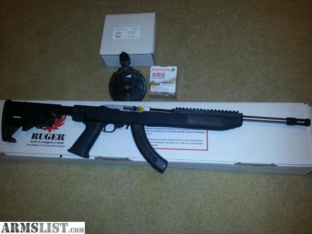 Armslist for sale ruger 10 22 tactical rifle 22lr 16 quot stainless