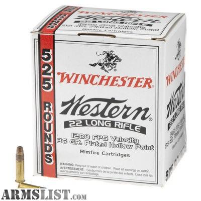 ARMSLIST - For Sale: .22 LR ammo, Winchester wester 525 bricks