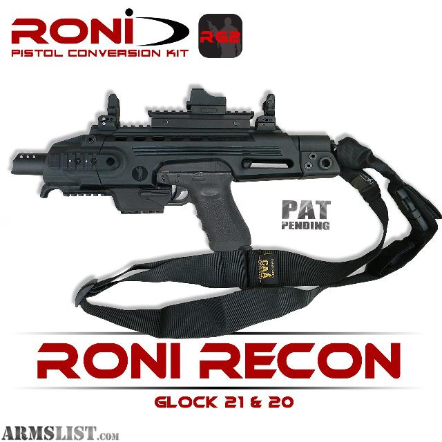 Roni for Glock 21 http://www.armslist.com/posts/1401097/milwaukee-wisconsin-gun-parts-for-sale--roni-recon---glock-20--21--10mm----45-