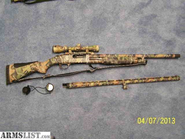 Mossberg Double Barrel Shotguns http://armslist.com/posts/1422038/harrisburg-pennsylvania-shotguns-for-sale--mossberg-535-combo-12ga-camo-w-scope--like-new-