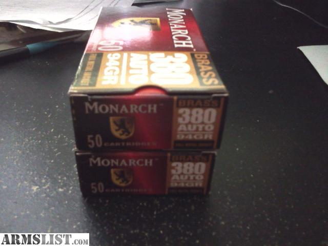 For Sale: .380 AUTO AMMO FOR SALE