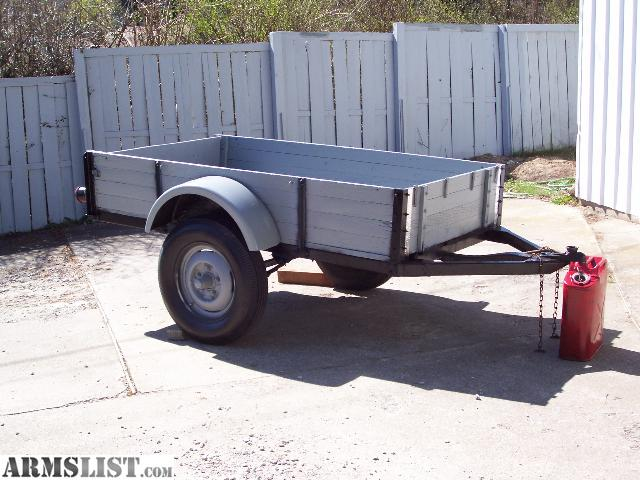 For Sale: Will Trade Small Heavy-Duty (7ft Bed) UTILITY/CARGO Trailer ...