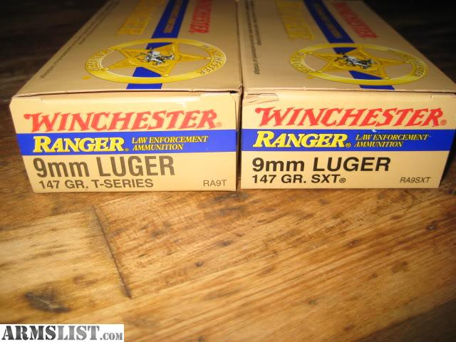 Winchester Ranger Sxt 9mm Winchester Ranger in 9mm