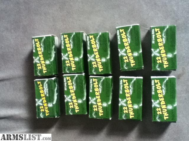 ARMSLIST - For Sale: .22 thunderbolt ammo
