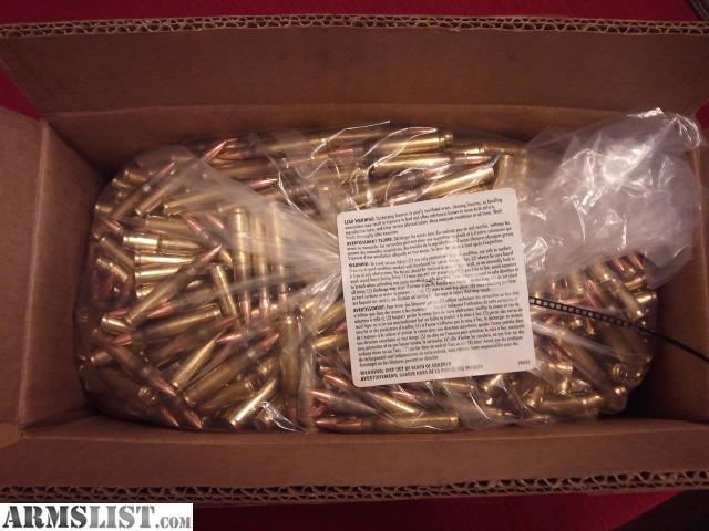 5 56Mm Ball M193 http://www.armslist.com/posts/1626031/seattle-washington-ammo-for-sale--federal-xm193bk-1000-rounds-of-5-56mm-lake-city-brass