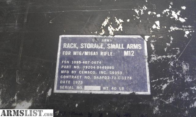 ARMSLIST - For Sale: Military Weapon Racks