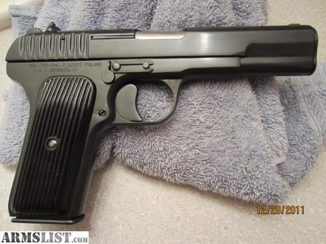 7_62 X 25 http://armslist.com/posts/1656325/ohio-handguns-for-sale--polish-tokarev-7-62-x-25-1952