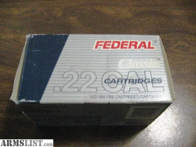 For Sale: 22lr Ammo - 500rds Federal Classic 40gr Solid Copper Plated