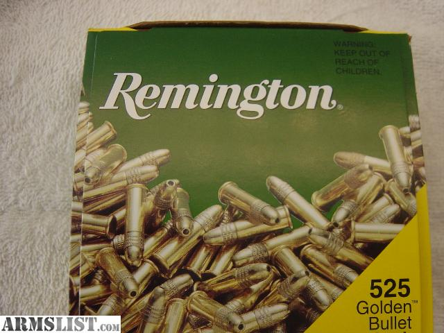 have a brand new unopened Remington 525 round Golden Bullet Value