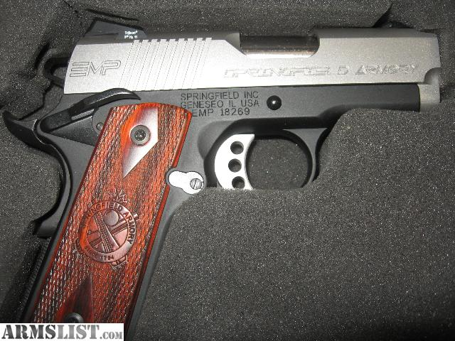 For Sale: SPRINGFIELD ARMORY EMP compact 1911 bitone 9mm stainless