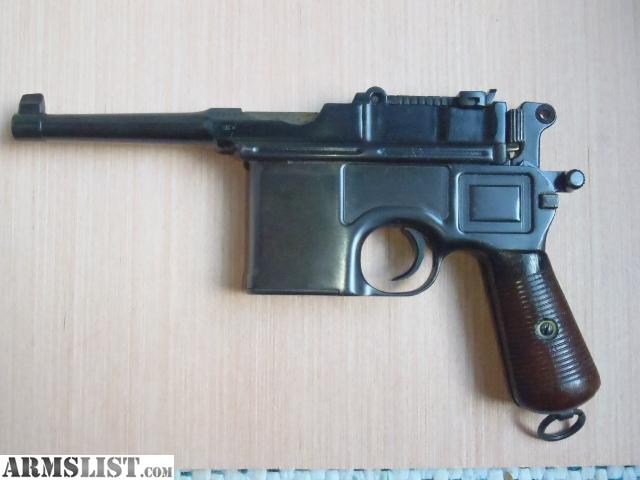Mauser Bolo Broom Handle For Sale http://www.armslist.com/posts/1810037/mobile-alabama-handguns-for-sale--mauser-c96-bolo-broomhandle-post-war-commercial-7-63