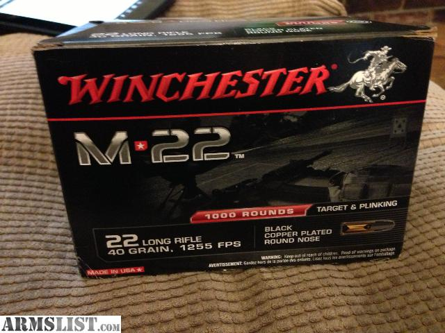 i have a box of 1000 rounds of winchester m 22 will sell