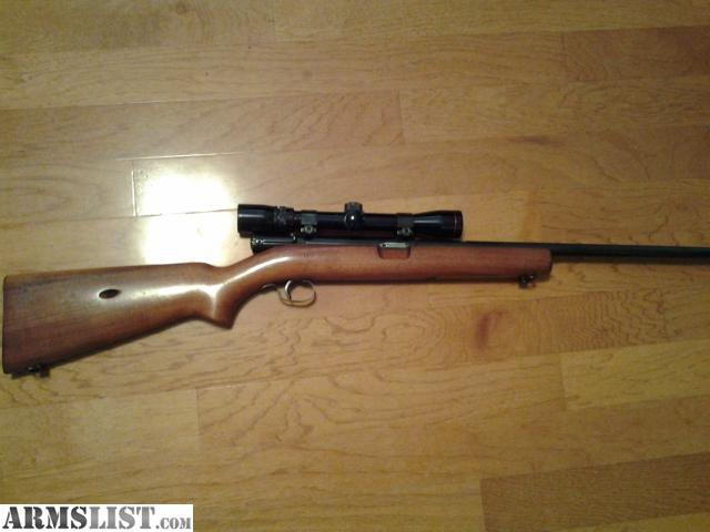 Winchester model 74 22lr semi-auto rifle, spring tube magazine loads