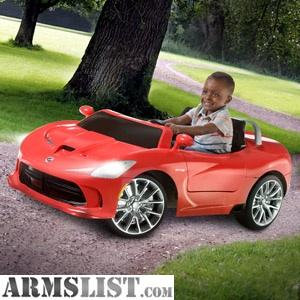 ARMSLIST - For Sale: Ride on SRT Viper car for kids-Trade for pistol