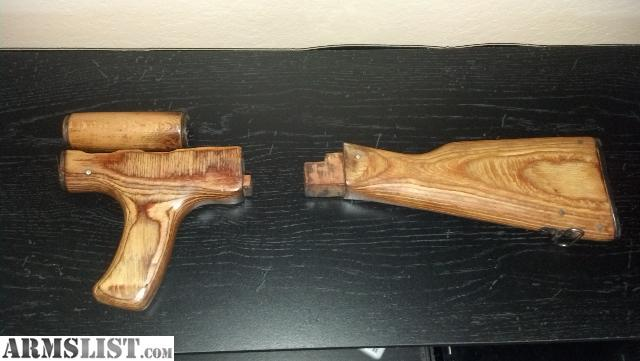 Armslist For Sale Trade Ak47 Wood Furniture Wood Stock Set With Cleaning Kit 40 Obo