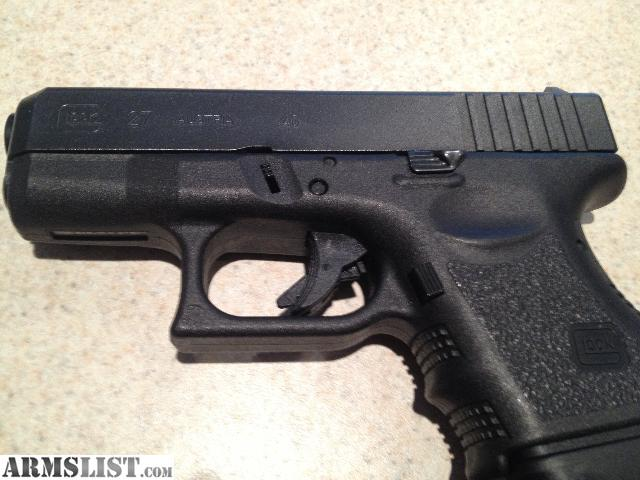 Glock 27 Gen 3 Glock 27 gen 3 with low round