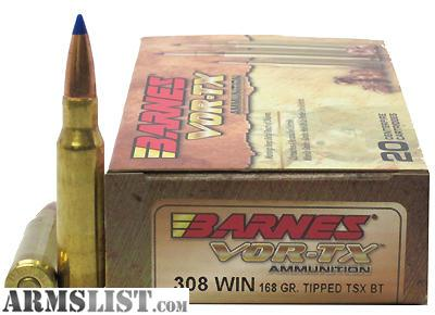 Armslist For Sale Barnes Vor Tx 308 Tipped Tsx Ammo