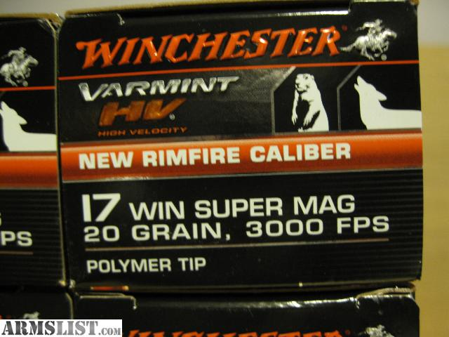 For sale 17 wsm or 17 winchester super mag ammo savage b mag ammo
