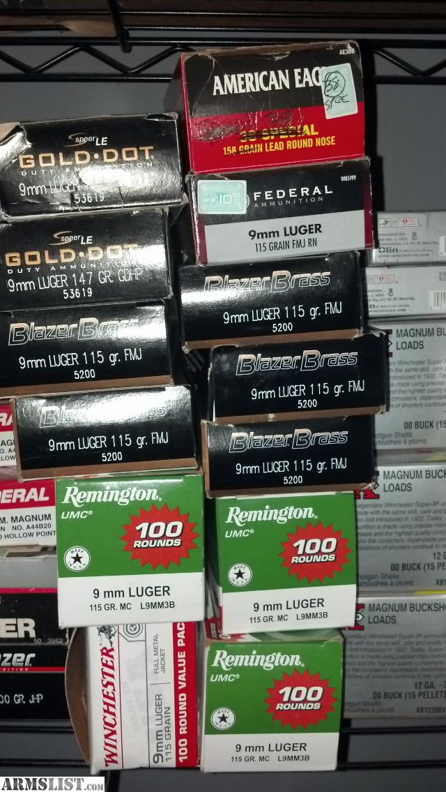 Name brand brass 9mm ammo best deal price firm and worth it 750 rds