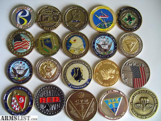 ARMSLIST - For Trade: Rare Military Challenge Coins