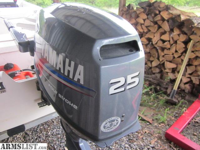 Armslist for sale yamaha 25hp 4 stroke electric start for 25hp yamaha 2 stroke