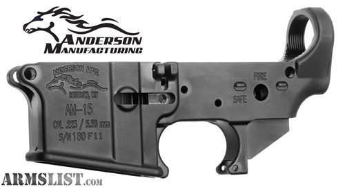 anderson am15 stripped lower receiver with rf85 treatment these are
