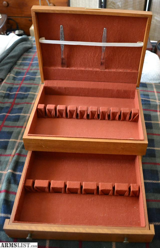 ARMSLIST - For Sale: Vintage Wood Silverware Flatware Storage