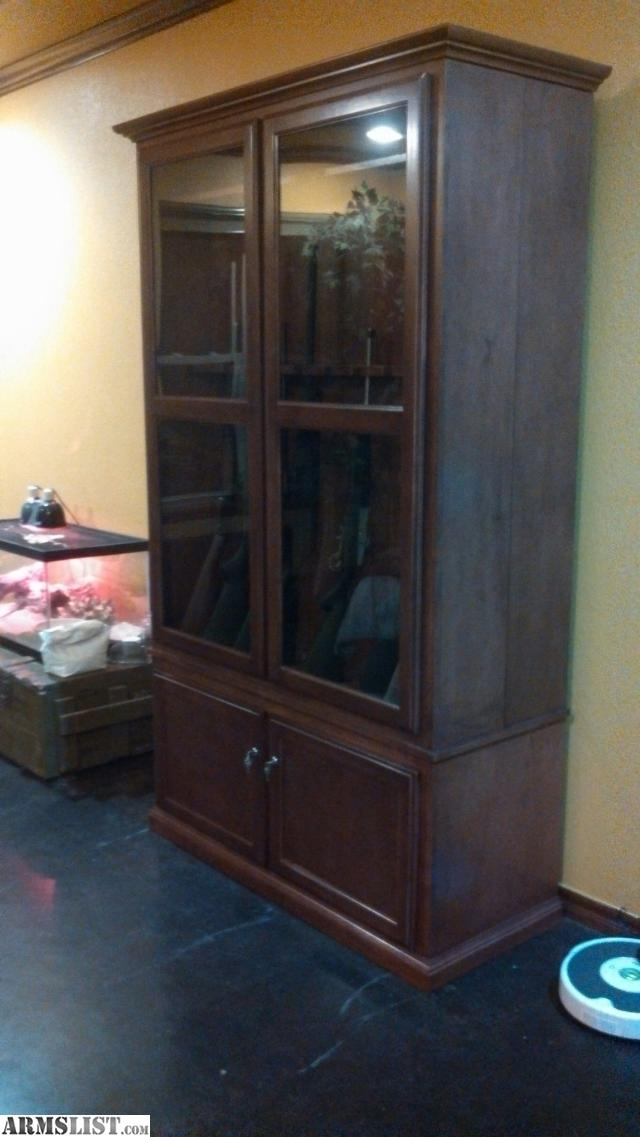 Armslist For Sale Custom Solid Maple Gun Cabinet With