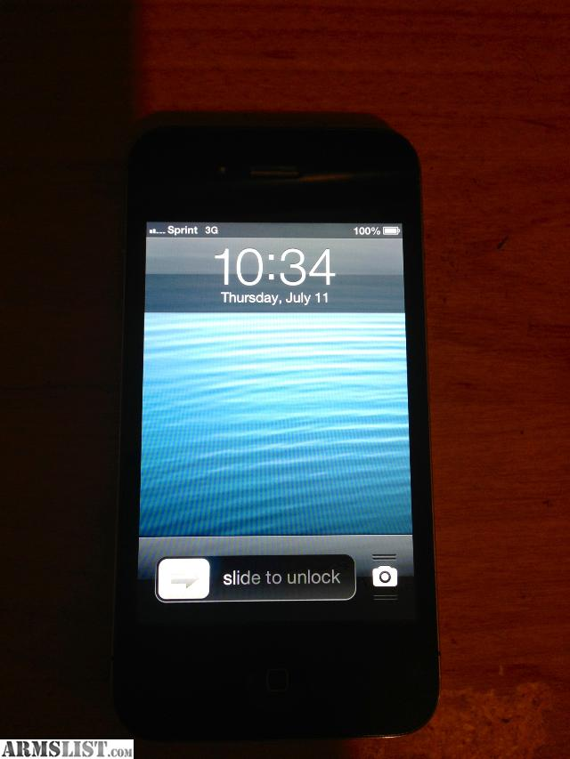 For SaleTrade: Black Sprint 8GB Iphone 4