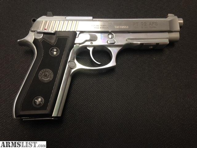 ARMSLIST - For Sale: Taurus PT 92 AFS 9mm Stainless/Nickel