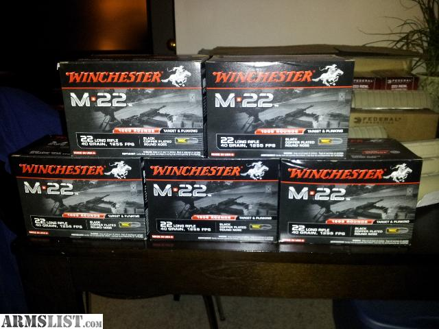 For Sale: M-22 22LR ammo (5000 rounds)