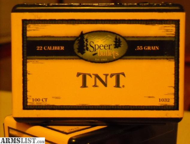 For Sale/Trade: 488ct Speer 55gr TNT HP's $60
