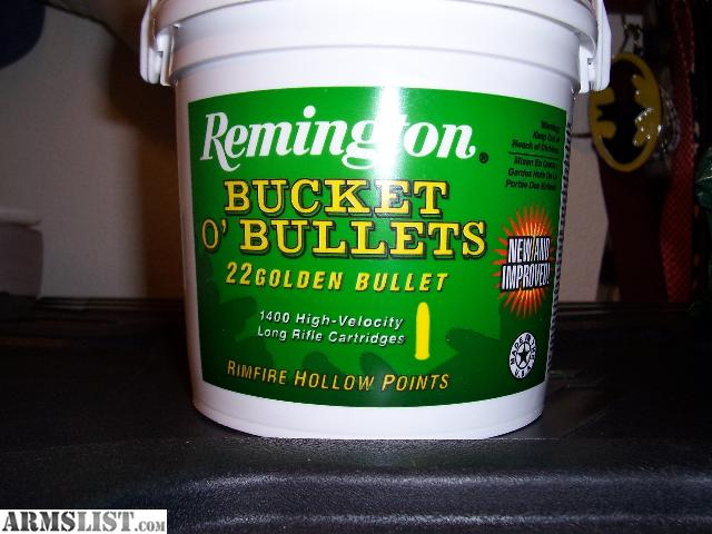 have for sale 22 LR Remington Bucket O' Bullets 1,400 rounds. It is