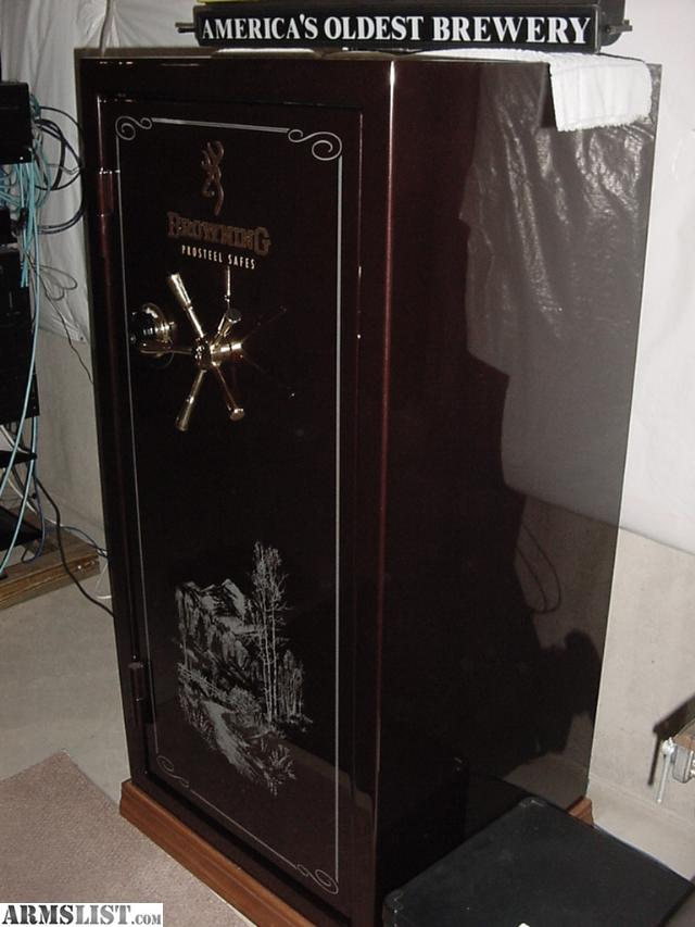 Black Gun Safe In Living Room Decor: For Sale: BROWNING MEDALLION PRO STEEL M28F GUN