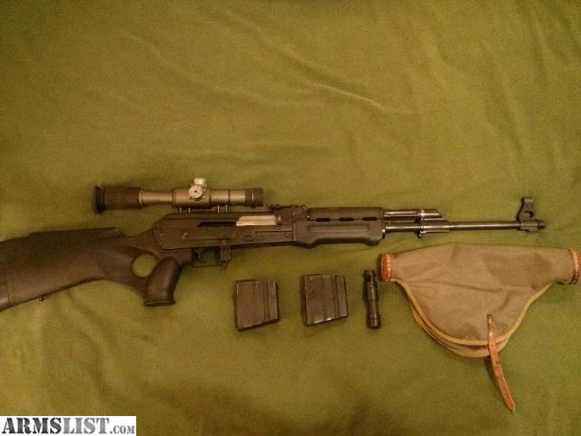 For Sale: Zastava Yugo Semi Auto M77 .308 AK 47 with scope like