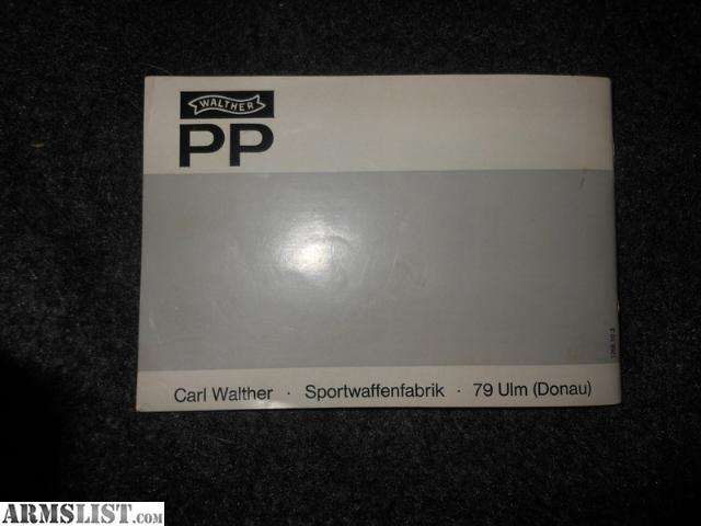 armslist for sale walther pp  ppk owners manual Hitler's Walther PPK Walther PPK 9Mm