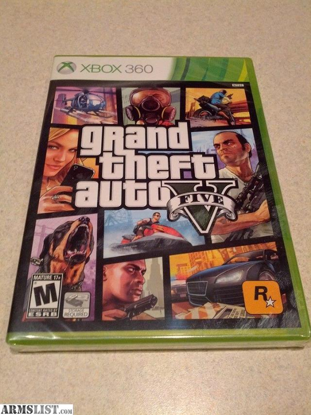 armslist for sale xbox 360 grand theft auto v gtav new. Black Bedroom Furniture Sets. Home Design Ideas