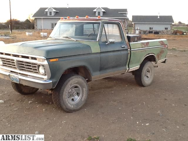 for sale 73 ford f100 4x4 73 ford f 350 4x4 lifted with 390 v8 $ 3000