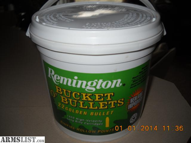 Remington Bucket of Bullets Contains 1400 Rounds of High Velocity