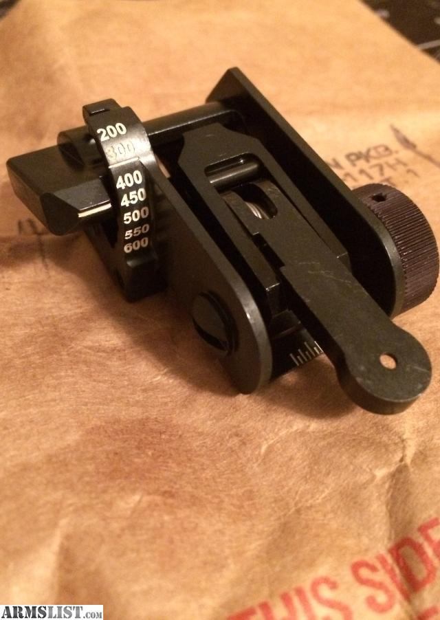 56mm m4 m16a4 back up iron sights current u s army standard issue
