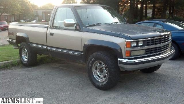 ARMSLIST - For Sale: 89 Chevy 2500 and a 95 jeep yj