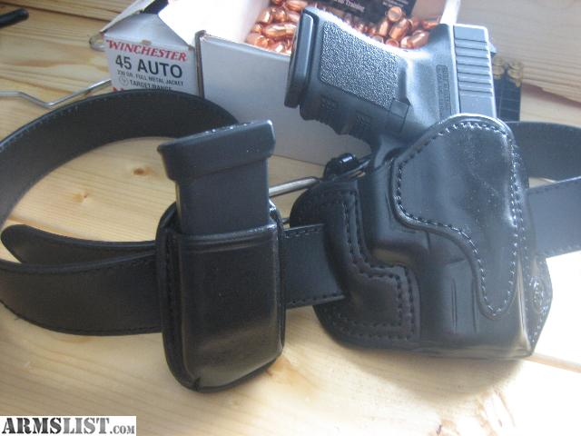 For Sale  Glock 30s Leather holster and Mag  carrierGlock 30 Holster Leather