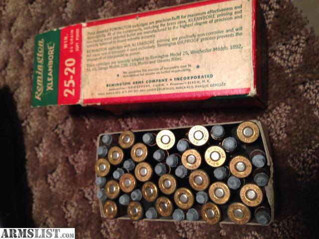 armslist for sale vintage ammo 25 20 winchester. Black Bedroom Furniture Sets. Home Design Ideas