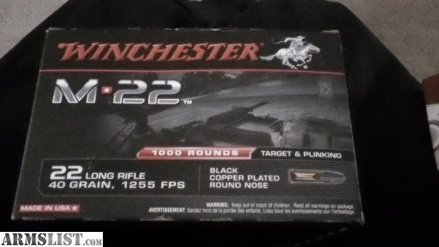 For Sale: 5000 Rounds of M22 (22LR)