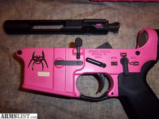 """Dallas Gun Trader >> ARMSLIST - For Sale: Pink Spikes Tactical ar15 16"""" 1/8 ..."""