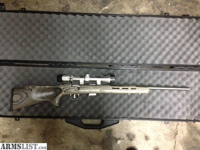 For sale savage 17 hmr stainless bull barrel thumb through stock