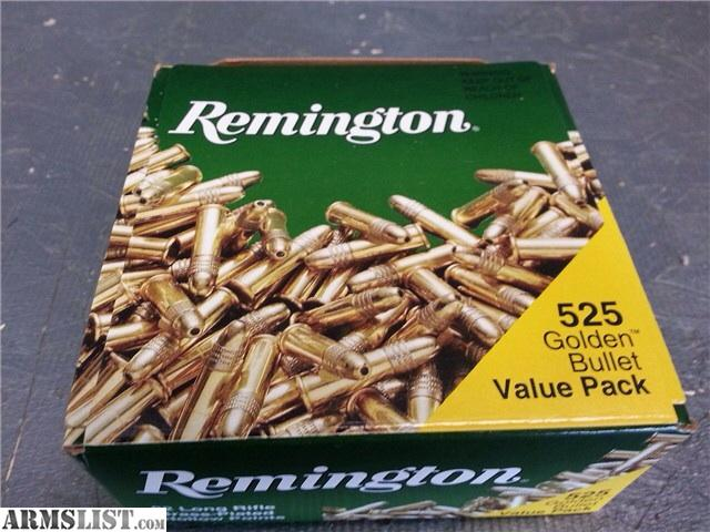 525 pack of Remington Golden Bullet hollow point .22lr. Firm on price