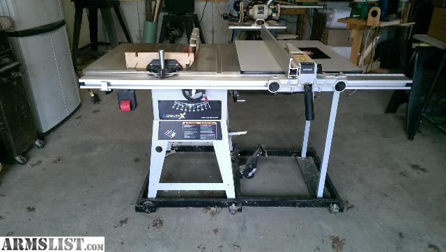Armslist for trade delta x5 10 contractor 39 s table saw for 10 inch delta table saw