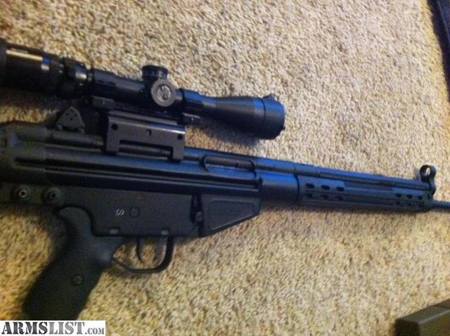 (H&K 91 clone) with scope and 5 20rd mags.